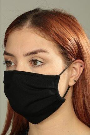 cottomask Anti-bakteriyel Pileli Kare Kumaş Maske - Siyah 0