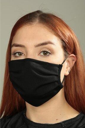 cottomask Anti-bakteriyel Pileli Kare Kumaş Maske - Siyah 1