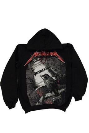 Orçun Özkarlıklı Unisex Siyah Metallica Sweatshirt 2