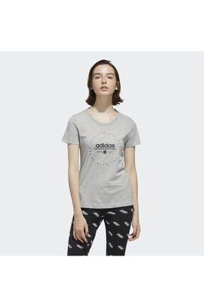 adidas Kadın Gri Circular Graphic T-shirt 3