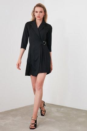 TRENDYOLMİLLA Siyah Çizgili Elbise TWOAW20EL1517 0