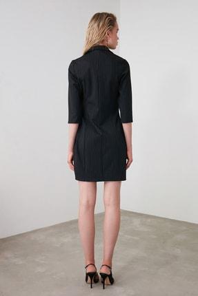 TRENDYOLMİLLA Siyah Çizgili Elbise TWOAW20EL1517 4