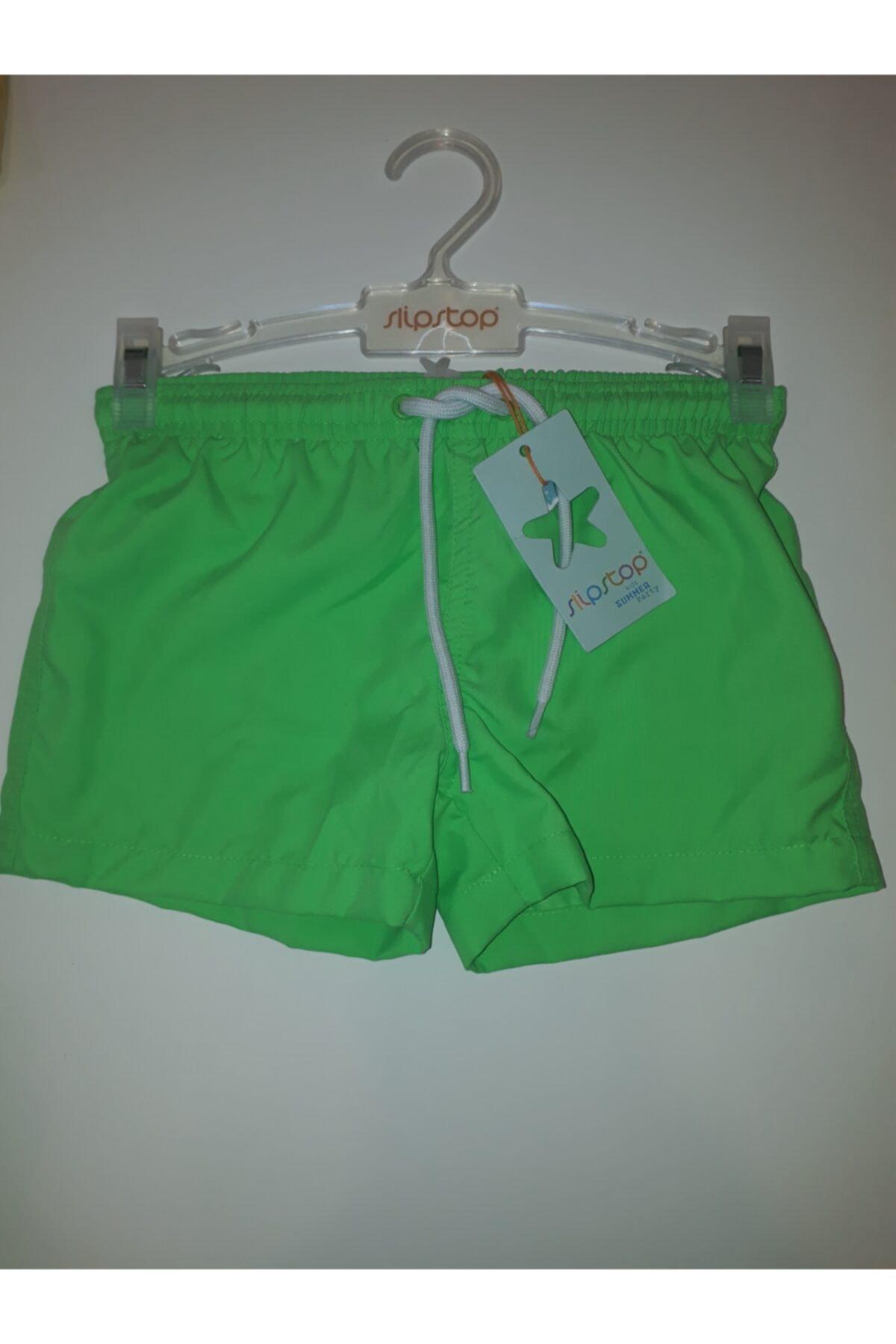 Neon Yeşil Erkek Çocuk Şort Mayo