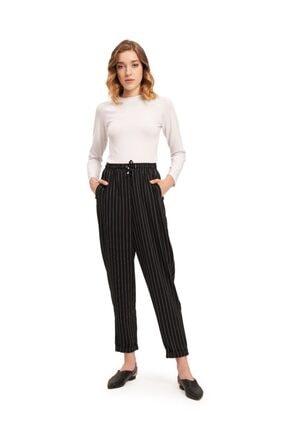 Mızalle Bağcıklı Çizgili Pantolon resmi