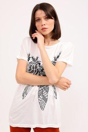 metropol tekstil Kadın Bej  T-Shirt 0