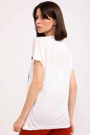 metropol tekstil Kadın Bej  T-Shirt 4
