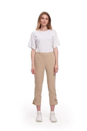 Kadın Bej Kuş Gözlü Pantolon  Pantolon resmi