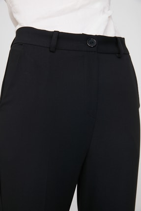 TRENDYOLMİLLA Siyah Cigarette Pantolon TWOSS19ST0038 3
