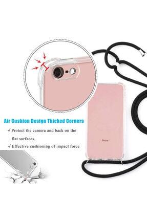 MobileGaraj Galaxy Note 10 Uzy Şeffaf Boyun Askılı Pembe Şeritli Kılıf+kitap 1