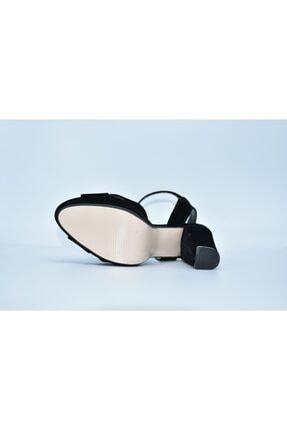 Papuç Sarayı Milena 200 Süet Siyah Renk Platform Topuklu Ayakkabı 172 3