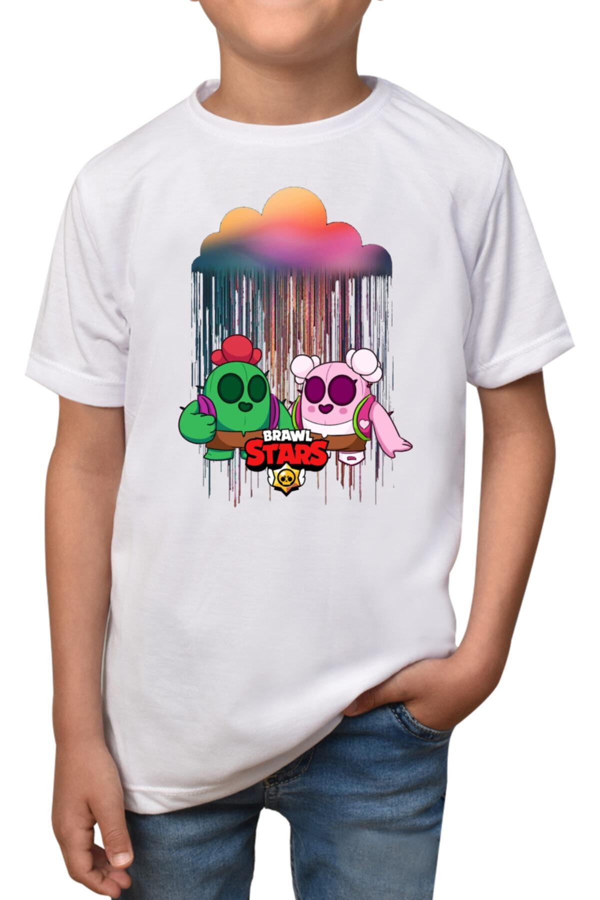 Brawl Stars - Beyaz Çocuk - Yetişkin Unisex T-shirt T-3