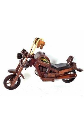 Özel Yapım Trendyıldızı Ahşap El Yapımı Motorsiklet Hediyelik 0