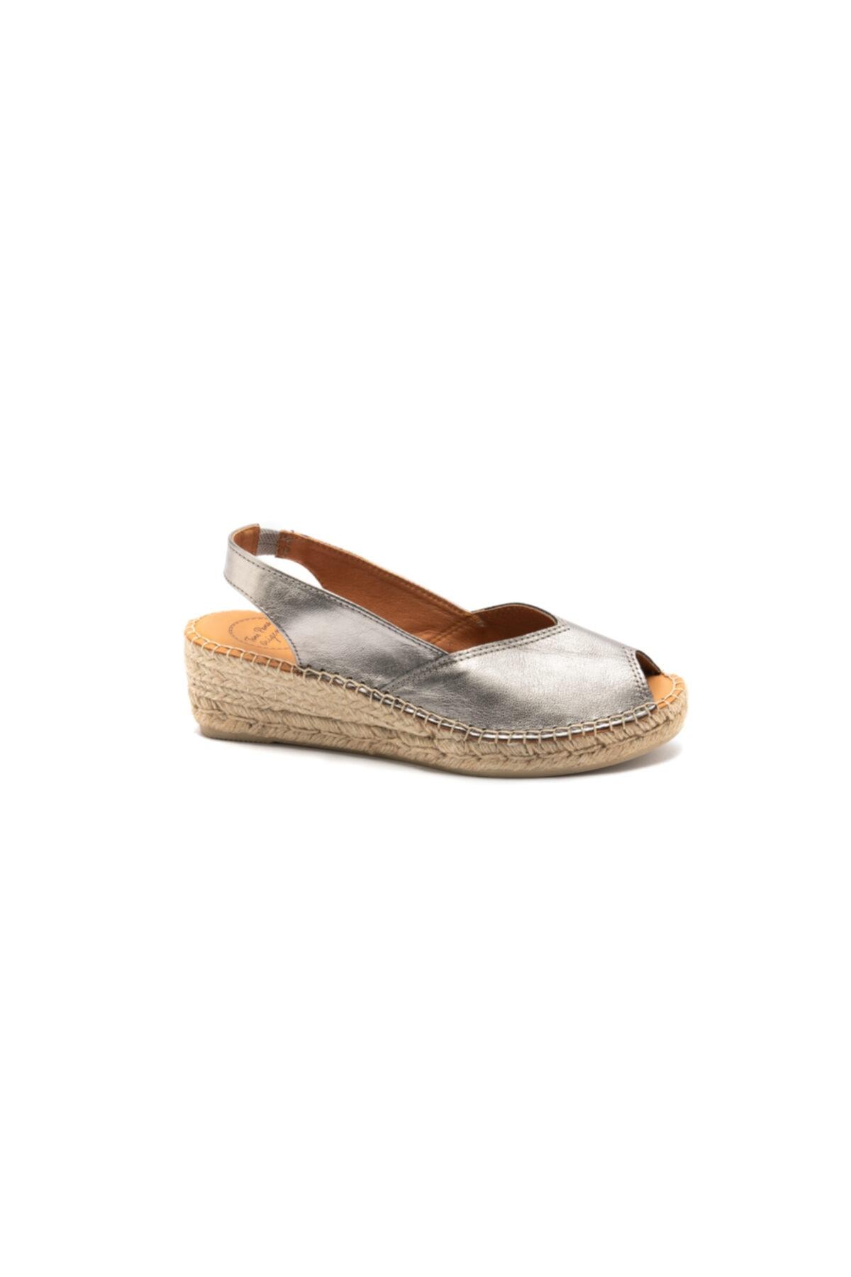 Toni Pons Kadın Çelik Mavisi Sandalet
