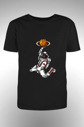 By Okat Basketci Astronot Baskılı Tshirt 0