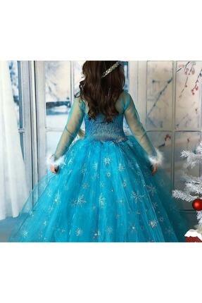 Kids Tarlatanlı Frozen Elsa Kostümü 1