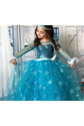 Kids Tarlatanlı Frozen Elsa Kostümü 2