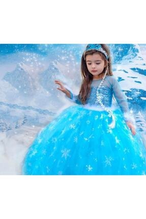 Kids Tarlatanlı Frozen Elsa Kostümü 3