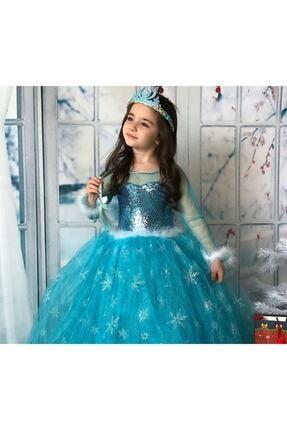 Kids Tarlatanlı Frozen Elsa Kostümü 4