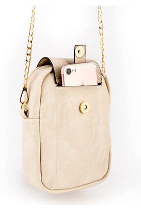 BAGzy Kadın Telefon Bölmeli Gold Detaylı Omuz Çantası 1