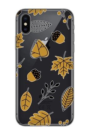 Mobilteam Apple Iphone X Siyah Baskılı Silikon Telefon Kılıfı 0
