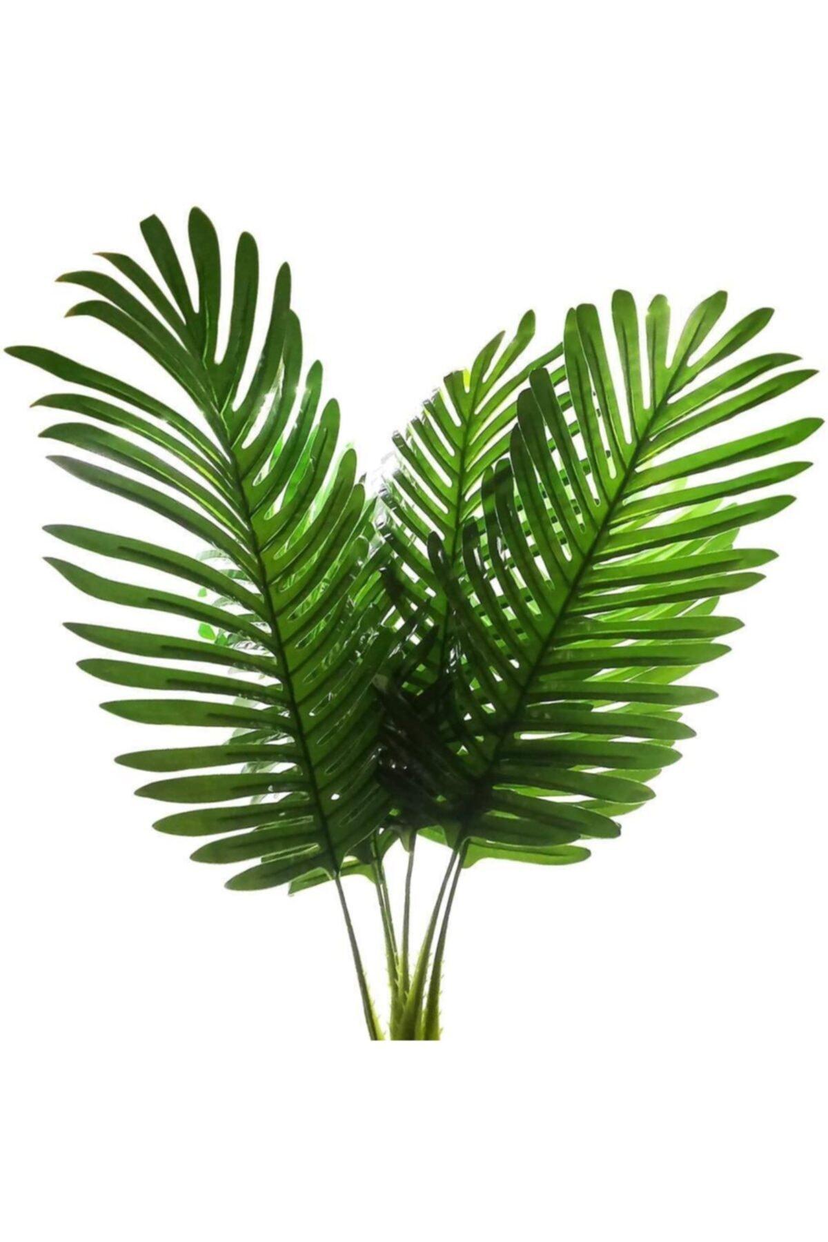 Nettenevime Yapay Çiçek Palmiye Yaprağı 3 Adet Yapay Yaprak
