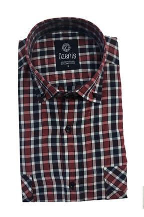 Özeniş Kareli / Ekose Erkek Gömleği Uzun Kol Çift Cepli Düğmeli Yaka 0