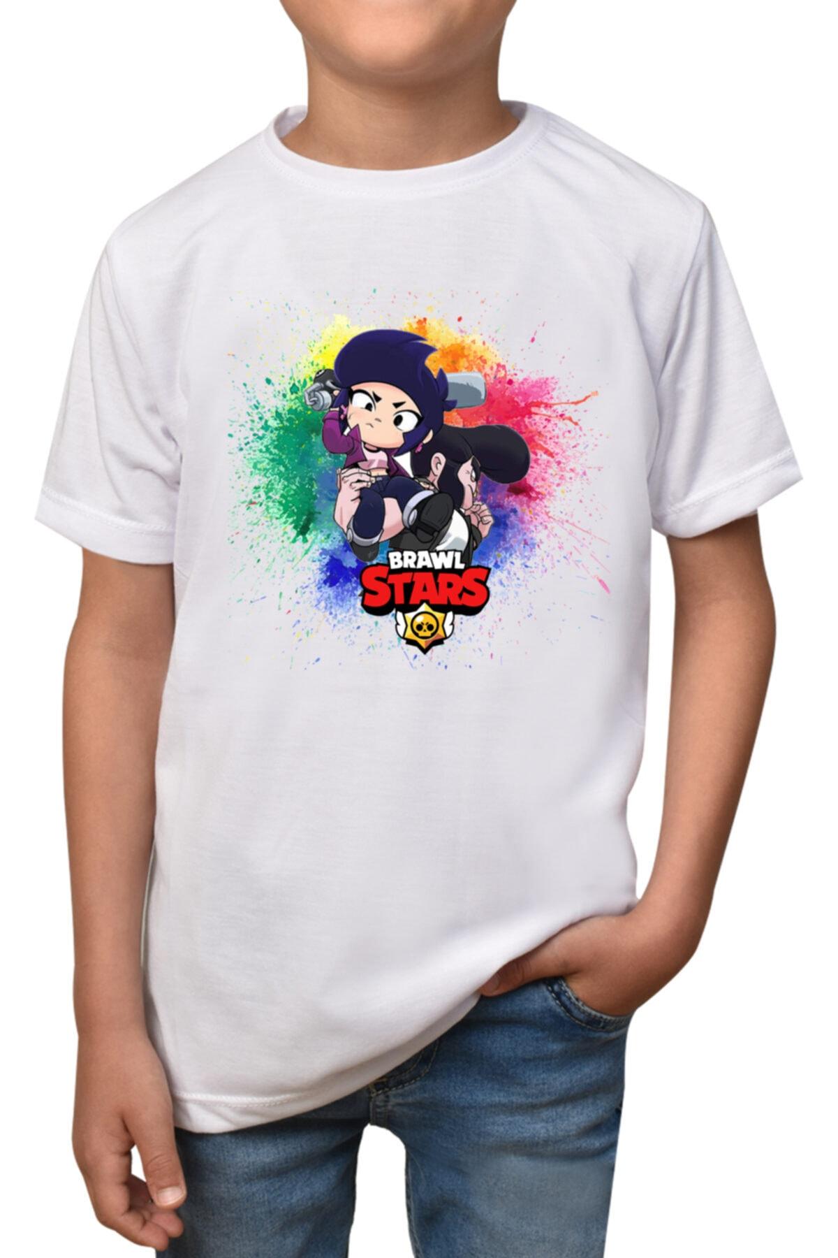 Çocuk Beyaz Brawl Stars T-shirt T-5