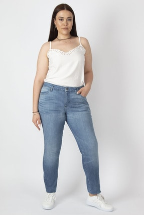 Şans Kadın Mavi Likralı 5 Cep Kot Pantolon 65N17125 0