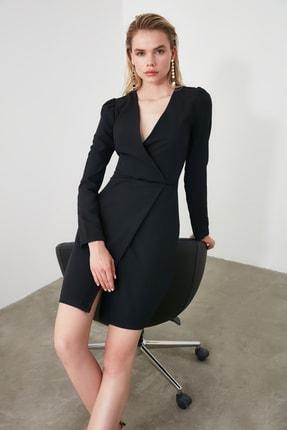 TRENDYOLMİLLA Siyah Kruvaze Elbise TWOAW20EL1341 0