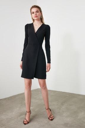 TRENDYOLMİLLA Siyah Kruvaze Elbise TWOAW20EL1341 1