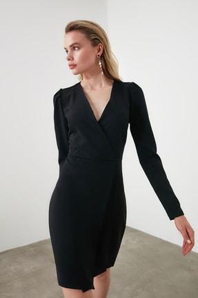 TRENDYOLMİLLA Siyah Kruvaze Elbise TWOAW20EL1341 2