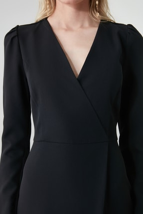 TRENDYOLMİLLA Siyah Kruvaze Elbise TWOAW20EL1341 3