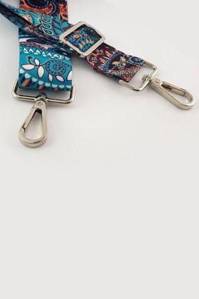 FAEN Medine Şal Desenli Çanta Askısı Silver 3