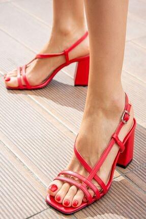 Kırmızı Kadın Topuklu Ayakkabı H922741009