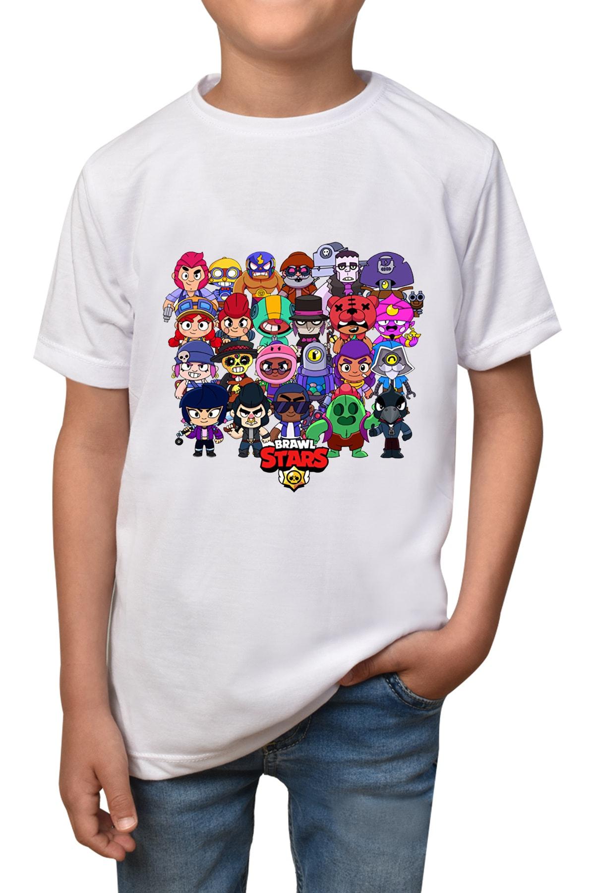 Brawl Stars - Beyaz Çocuk - T-shirt T-19