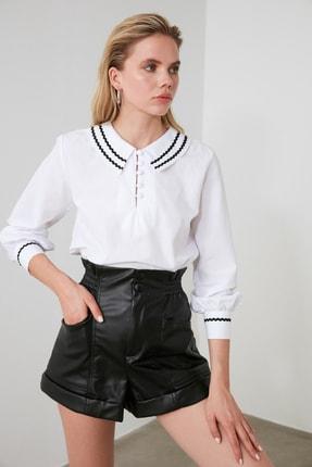 TRENDYOLMİLLA Beyaz Yaka Detaylı Bluz TWOSS20BZ0036 3