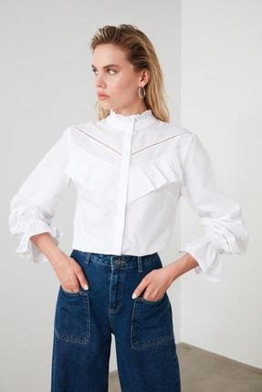 TRENDYOLMİLLA Beyaz Yaka Detaylı Gömlek TWOSS20GO0421 3
