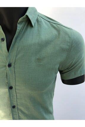 KAYRAN Erkek Yeşil Kısa Kollu Gömlek 2