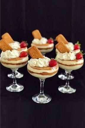 Pazarika Cam Dondurma Ve Magnolia Eğik Kase 6'lı 0