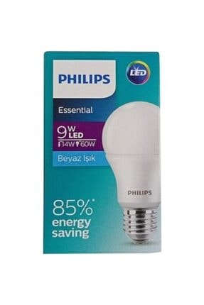 Philips Essential Led Ampul 9w-60w Beyaz Işık E27 Normal Duy 6'lı Paket Phılıps015 1
