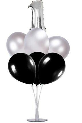 KullanAtParty Altın Beyaz Pembe 4 Yaş Doğum Günü Temalı Balon Standı 3