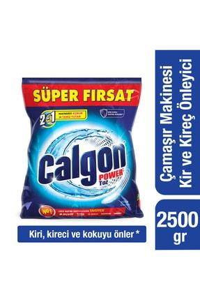 Calgon Çamaşır Makinesi Kireç Önleyici Toz - 2 Adet 2500 gr + 10'lu Maske 2