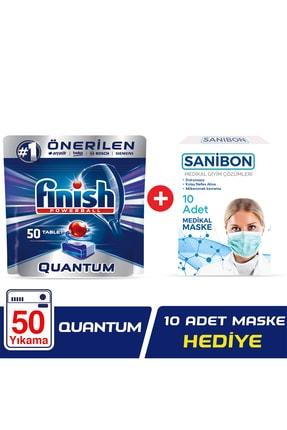 Finish Quantum 50 Tablet Bulaşık Makinesi Deterjanı + 10'lu Maske 0