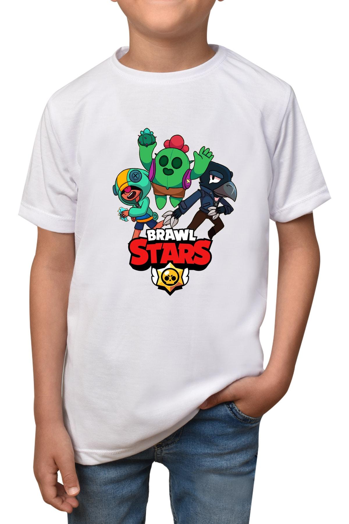 Brawl Stars - Beyaz Çocuk - Yetişkin Unisex T-shirt T-18