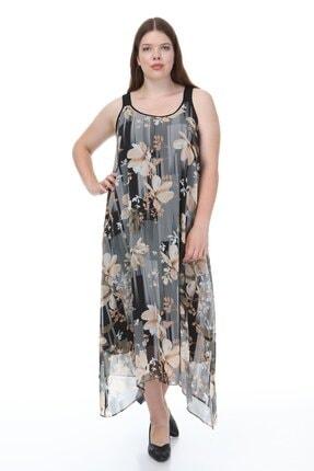Hanezza Kalın Askılı Asimetrik Elbise 0