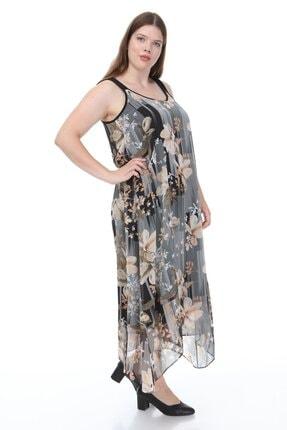 Hanezza Kalın Askılı Asimetrik Elbise 1