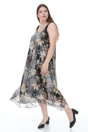 Hanezza Kalın Askılı Asimetrik Elbise 2