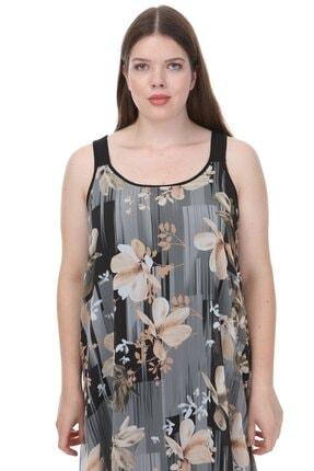 Hanezza Kalın Askılı Asimetrik Elbise 3