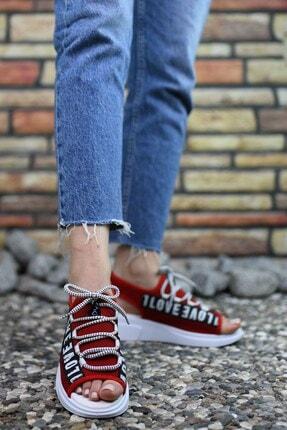 Riccon Kırmızı Kadın Sandalet 0012999 3