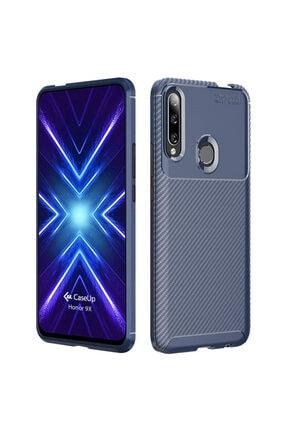 CaseUp Huawei Honor 9x Kılıf, Fiber Design Lacivert 0